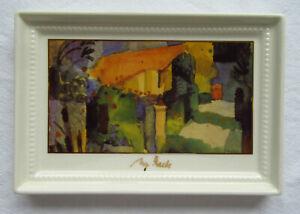 Goebel Artis Orbis Porzellanbild August Macke Haus im Garten 13 x 9