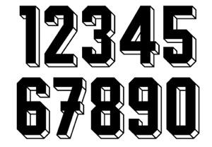 Felt 1980's 90's Football Shirt Soccer Numbers Heat Print Football Vintage A 6