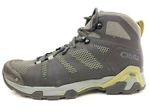OBOZ Arete Mid B-Dry Waterproof Men's Hiking Shoes Gray Green Size 11