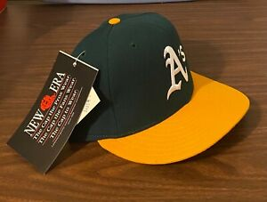 NWT Vintage Oakland A's MLB Authentic New Era 59FIFTY Fitted Cap 5950 Hat 7 3/4