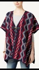 Tommy Hilfiger Delaney Red White & Blue Cape Poncho One Size Fits All NWT $129