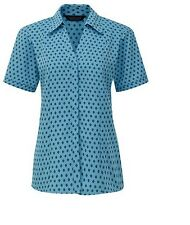 Meltemi Semi-Fitted Polyester Blouse Blue Size UK 12 DH077 PP 05