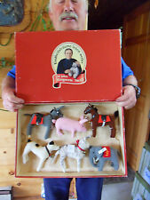 Steiff donkey horse elephant dog cat pig set of 6 piece Jubilee special ed.