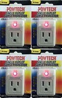 4 new pack single outlet surge protector 270 joules with power suppressor.