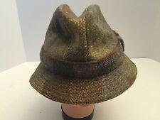 *GLEN APPIN Of Scotland Tweed Plaid Fedora Hat Wool Made in UK SZ-M. Ba11114