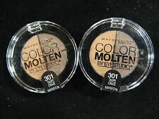 Maybelline Color Molten EyeStudio Eye Shadow Taupe Craze 301, Lot of 2