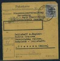 SBZ PAKETKARTE 1948 Nr 196 siehe Beschreibung (115412)
