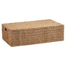 HARTLEYS WICKER SEAGRASS UNDER BED STORAGE BOX BEDDING/BLANKET CHEST/TRUNK