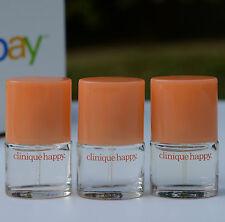Lot 3 x Clinique Happy Perfume Mini Spray .14oz/4ml each, total 0.42oz / 12ml