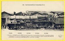 cpa LOCOMOTIVE à Vapeur de 1908 du CHEMINS de FER FRANÇAIS Railway Gare Train