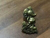 EURO DISNEY BRASS BRONZE MICKEY MOUSE 3D PIN