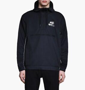 Nike Sportswear Hooded Woven Archive Jacket  941877-011 Men's Size Large Black