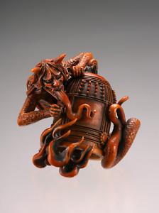 YOKAI Japanese Demon Dojo-ji bell mascot charm netsuke strap Kiyohime Snake lady