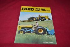 Ford 2110 4100 LCG Low Ground Clearance Tractor Dealer's Brochure YABE15