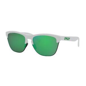 Oakley Frogskins Lite Sunglasses Matte White Frame Prizm Jade Lens