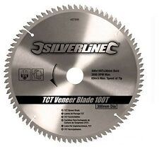 Silverline TCT Veneer Blade 100t 300 x 30 - 25 20 16mm Rings