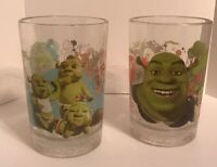 "McDonald's SHREK THE THIRD Glasses  5 1/4"" Tall, 2007 Qty 2 T"