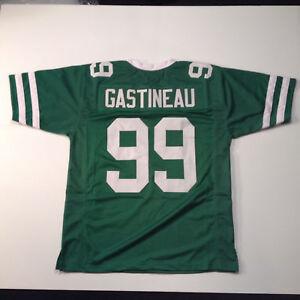 UNSIGNED CUSTOM Sewn Stitched Mark Gastineau Green Jersey - M, L, XL, 2XL