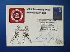 1978 60TH ANNIVERSARY NORWICH LADS CLUB FIRST DAY COVER SIGNED BY BRIAN JACKS