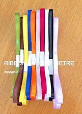1 metre / 100 cm, 6mm Satin Ribbon Scrapbook gift hair bow tie cake Party CRAFT