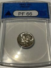 New listing 1942 Mercury Dime Pcgs Pr66 Proof
