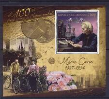 Marie Curie Sklodowska science Nobel Gabon s/s MNH $GB0311