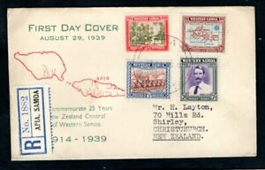 Western Samoa - 1939 25 Years of New Zealand Control Registered First Day Cover