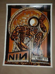 Nine Inch Nails Las Vegas concert poster Guy Burwell screen print gig art NIN