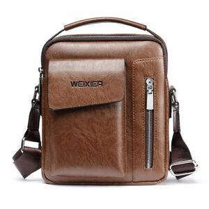 Men Shoulder Bag Vintage Crossbody Bags High Quality Male Bag PU Leather Handbag