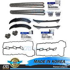 GENUINE Timing Chain Kit & Valve Cover Gaskets Fits 06-10 Hyundai Kia 3.3L 3.8L