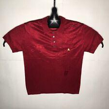 Vintage MONTAGUT Polyamide Short Sleeve Polo Shirt Tennis MAROON size 6