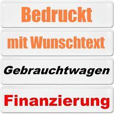 1 x Kennzeichen ohne EU Zeichen bedruckt mit Wunschtext Autoschild BLANKO