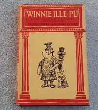 Winnie Ille Pu (Winnie the Pooh) in Latin. AA Milne  Seventh Printing  Feb 1961