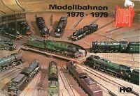 Jouef Prospekt 1978 1979 Modelleisenbahn Modellbahnen Katalog ist beschädigt!!