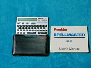 Franklin Spellmaster QE 95 Electronic Portable Crossword Solver Free UK P&P