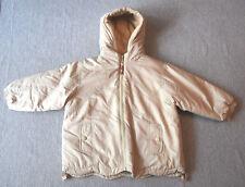 Mills Baby Kinderjacke Winterjacke hellbrau-beige Gr.-98 mit Kapuze Regenjacke