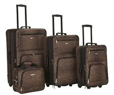 Rockland 4 PC LEOPARD LUGGAGE SET F125-LEOPARD Luggage NEW