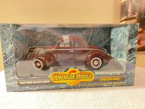 Ertl Collectables / Americn Muscle 1940 Ford Deluxe Coupe''NEW, SEALED, MINT