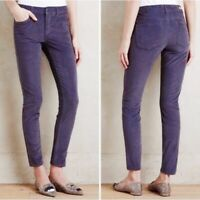anthropologie pilcro and the letterpress Blue Skinny Corduroy Pants Size 29