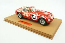 1/18 BBR FERRARI 375MM CAR #23 PANAMARICANA DELUXE BROWN LEATHER BASE LE 3 PC MR