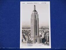 Empire State Building 102 Stories NY No. 59 Wm. Frange  RPPC Unused B&W PC11