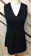 M&S Limited Edition Shift A Line Dress Embroidered Tear Drop Pattern Size 12