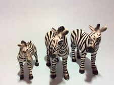 Schleich Zebra Family 2 Adult Zebras And A Baby Zebra 1998 Version