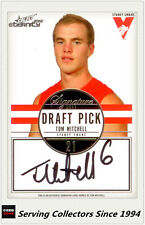 2012 Select AFL Eternity Draft Pick Signature Card DPS11 Tom Mitchell (Sydney)
