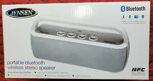 Jensen Bluetooth Portable Wireless Stereo Rechargable Speaker White SMPS-627W
