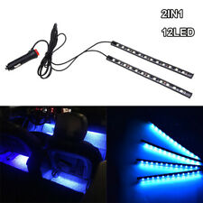 12 LED Ice Blue Car Interior Accessories Floor Decorative Atmosphere Lamp Light