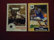 Zion Williamson Both Cards:  Spartanburg High School + Duke Future Stars 87T
