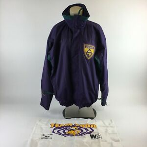Vtg Columbia Jacket Vikings NFL Coaches Club Team Flag Full Zip Purple Womens XL