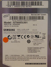 Samsung HD503HI, ST500DL001 / A4523-C721-BX7KX / 12.2012 - 500 GB hard disk