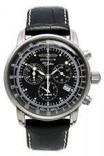 """Zeppelin Herrenuhr Uhr """"100 Jahre"""" Alarm Chrono Chronograph Schwarz 7680-2"""